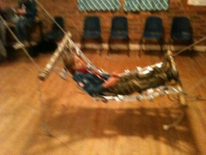 A hammock made from duct/duck tape
